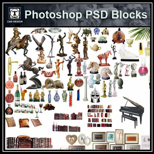 Free Photoshop PSD Blocks-Home Decoration