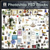 Free Photoshop PSD Blocks-Home Decoration & Home Accessories