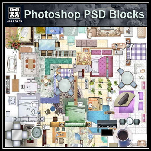 Free Photoshop PSD Blocks-Furniture – CAD Design