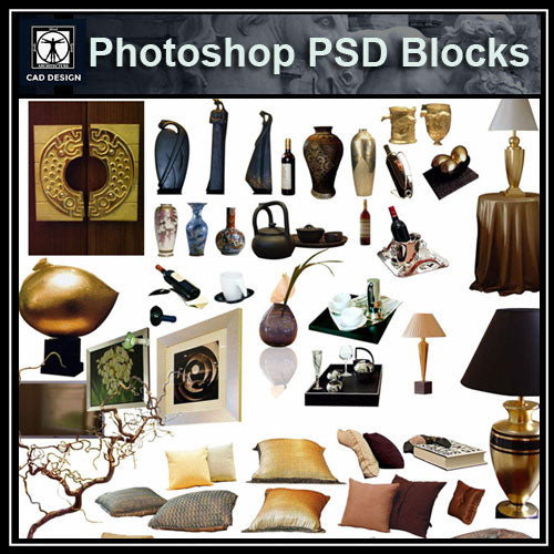 Free Photoshop PSD Blocks-Home Decoration - CAD Design | Download CAD Drawings | AutoCAD Blocks | AutoCAD Symbols | CAD Drawings | Architecture Details│Landscape Details | See more about AutoCAD, Cad Drawing and Architecture Details