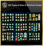 225 Types of Door and Window Design(Best Recommanded!!) - CAD Design | Download CAD Drawings | AutoCAD Blocks | AutoCAD Symbols | CAD Drawings | Architecture Details│Landscape Details | See more about AutoCAD, Cad Drawing and Architecture Details