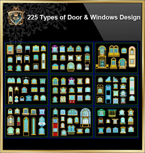 225 Types of Door and Window Design(Best Recommanded!!)