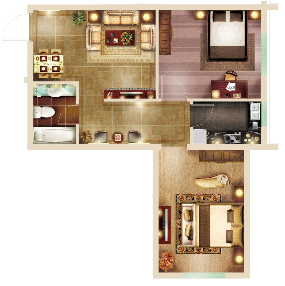 15 types of interior design layouts photoshop psd template for Types of interior designers