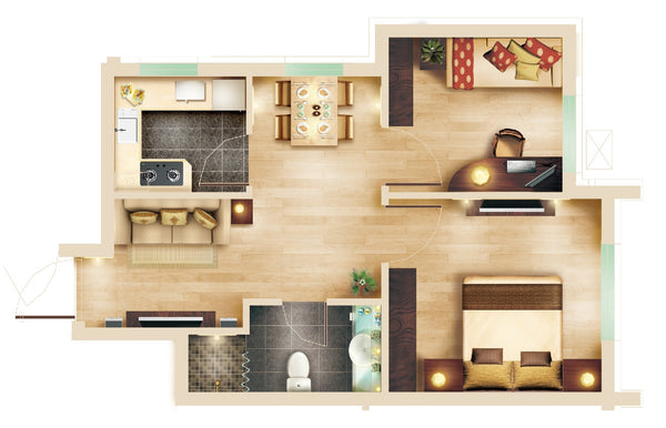 15 Types of Interior Design Layouts Photoshop PSD Template V.3 – CAD ...