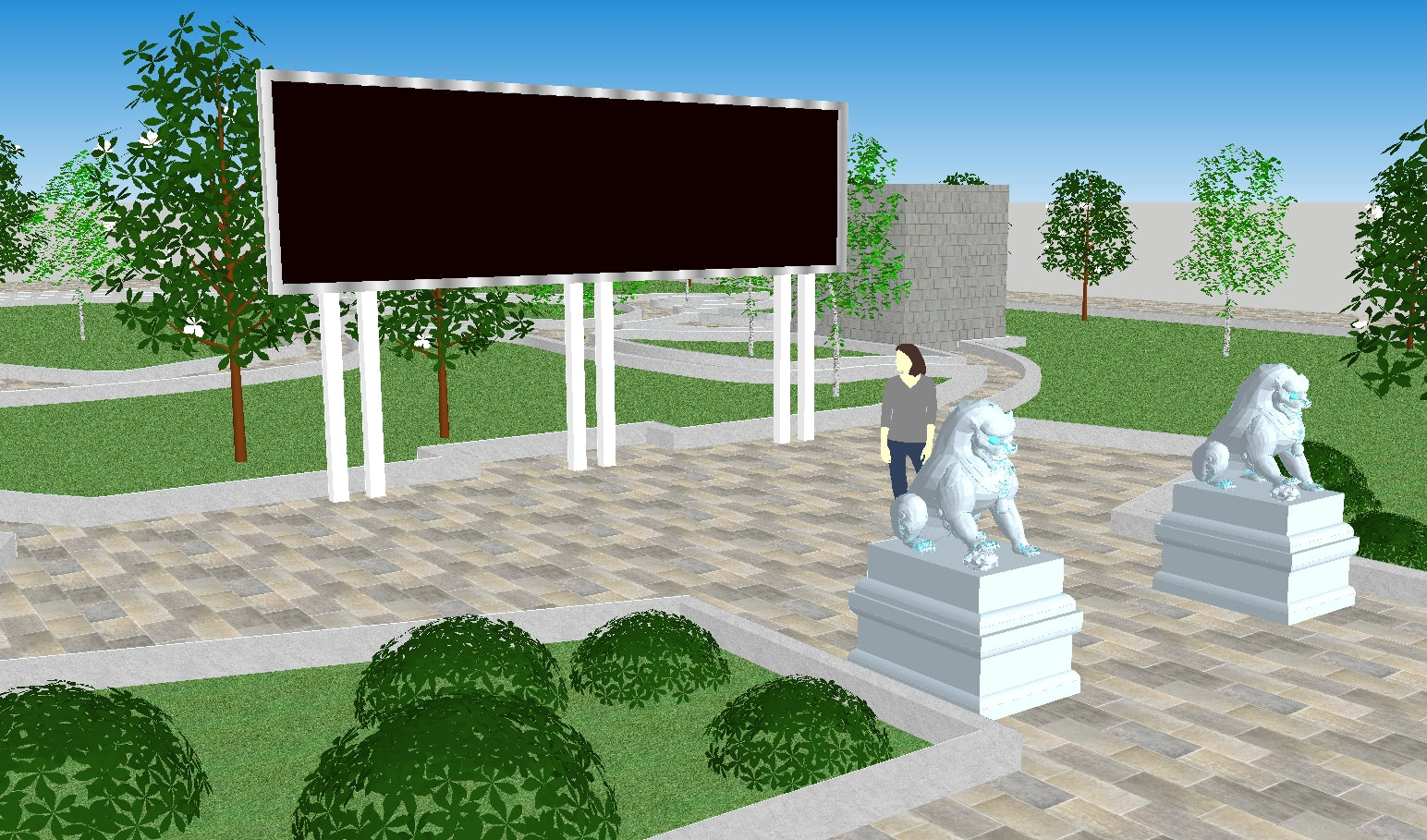 Sketchup Architecture 3D Projects】5 Types of Park ...