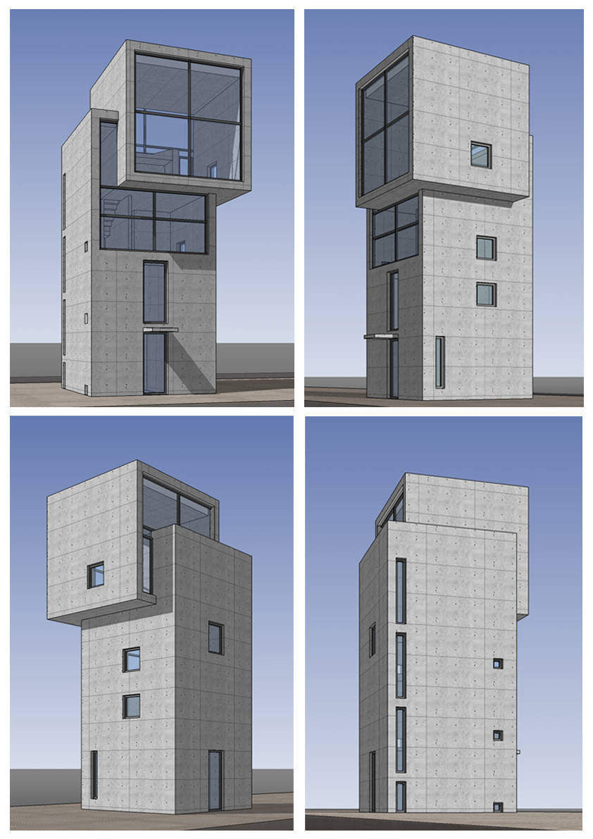 Autocad 3d House Design Software: Sketchup 3D Architecture Models- 4X4 House(Tadao Ando