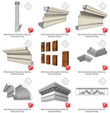【Sketchup 3D Models】25 Types of Architectural Decorative Elements Sketchup models - CAD Design | Download CAD Drawings | AutoCAD Blocks | AutoCAD Symbols | CAD Drawings | Architecture Details│Landscape Details | See more about AutoCAD, Cad Drawing and Architecture Details