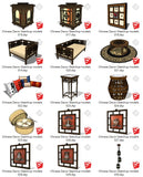 【Sketchup 3D Models】44 Types of Chinese Decor Elements Sketchup models V.1 - CAD Design | Download CAD Drawings | AutoCAD Blocks | AutoCAD Symbols | CAD Drawings | Architecture Details│Landscape Details | See more about AutoCAD, Cad Drawing and Architecture Details