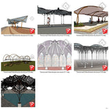 【Sketchup 3D Models】19 Types of Tensioned Membrane Structure Sketchup Models V.1 - CAD Design | Download CAD Drawings | AutoCAD Blocks | AutoCAD Symbols | CAD Drawings | Architecture Details│Landscape Details | See more about AutoCAD, Cad Drawing and Architecture Details