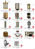 【Sketchup 3D Models】41 Types of Chinese Decor Elements  Sketchup models V.1 - CAD Design | Download CAD Drawings | AutoCAD Blocks | AutoCAD Symbols | CAD Drawings | Architecture Details│Landscape Details | See more about AutoCAD, Cad Drawing and Architecture Details