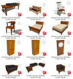 【Sketchup 3D Models】55 Types of Chinese Furniturer Design Sketchup models V.1 - CAD Design | Download CAD Drawings | AutoCAD Blocks | AutoCAD Symbols | CAD Drawings | Architecture Details│Landscape Details | See more about AutoCAD, Cad Drawing and Architecture Details