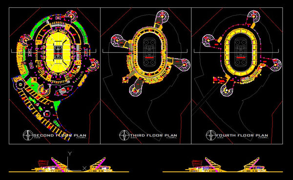 ★【Stadium,Gymnasium, Sports hall  Design Project V.4-CAD Drawings,CAD Details】@basketball court, tennis court, badminton court, long jump, high jump ,CAD Blocks,Autocad Blocks,Drawings,CAD Details