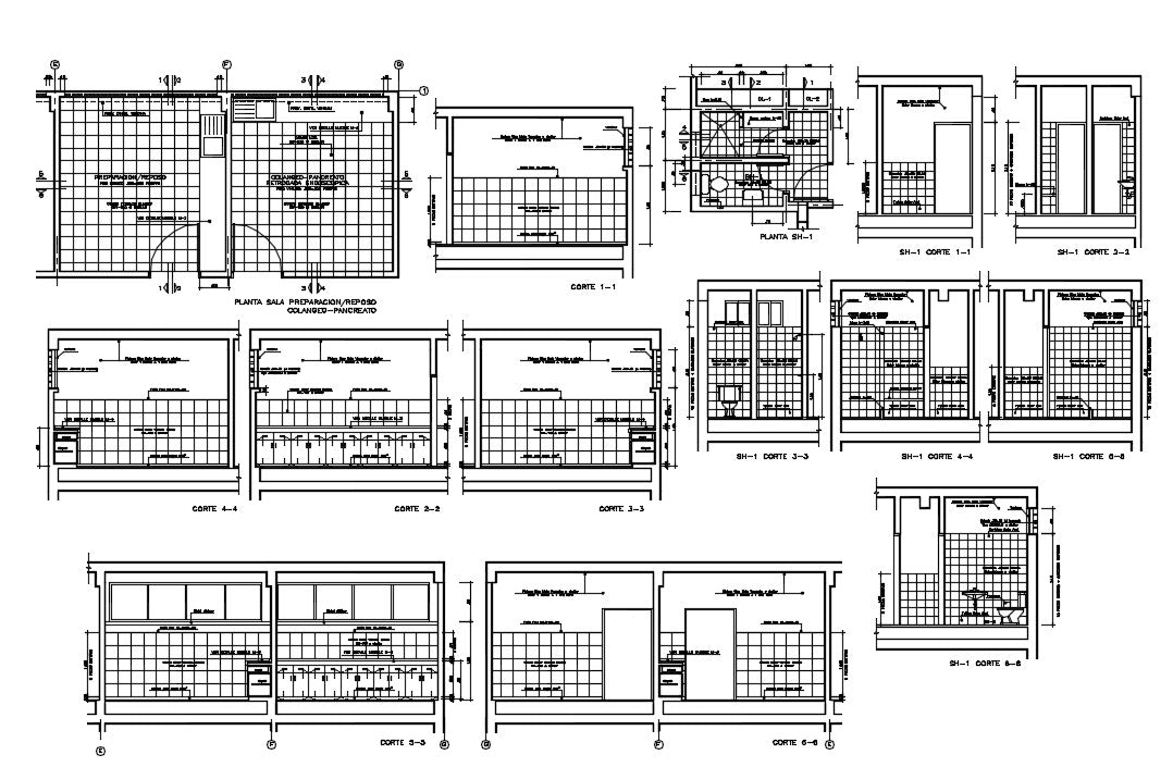 House elevation details ROOM FLOOR PREPARATION / REST, bathroom, & toilet details, Window, wooden bench, House elevation details download file, House elevation details dwg file, House elevation details
