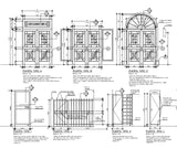Steel door and window - CAD Design | Download CAD Drawings | AutoCAD Blocks | AutoCAD Symbols | CAD Drawings | Architecture Details│Landscape Details | See more about AutoCAD, Cad Drawing and Architecture Details