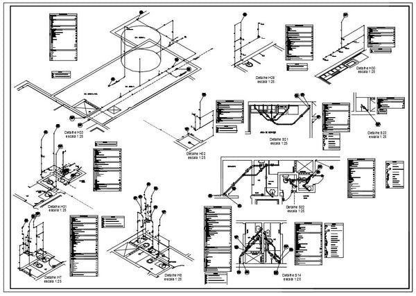 Plumbing Detail Design in autocad dwg files