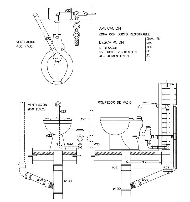 Bathroom & toilet details in a layout plan, section plan, Toilet Installation detail, Wooden door, Paper bin, Bathroom & toilet details dwg file, Bathroom & toilet design draw in autocad format.