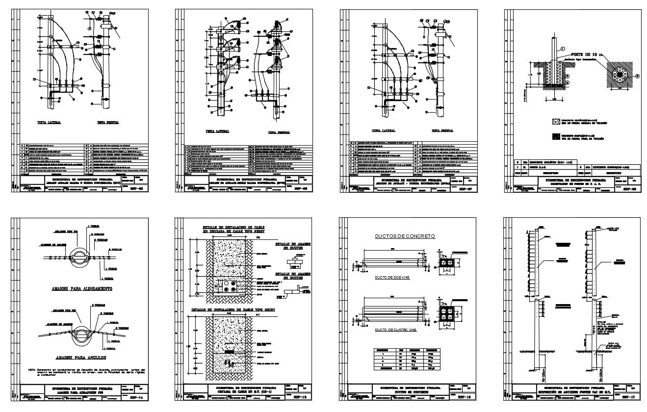 This Primary Distribution sub system detail in DWG file with structure design, & all beam & column detail & slab detail, steel detail etc.