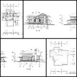 ★【Villa CAD Design,Details Project V.16】Chateau,Manor,Mansion,Villa@Autocad Blocks,Drawings,CAD Details,Elevation