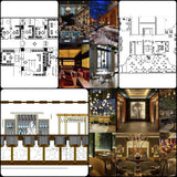 ★【Pub,Bar,Restaurant CAD Design Drawings V.1】@Pub,Bar,Restaurant,Store design-Autocad Blocks,Drawings,CAD Details,Elevation - CAD Design | Download CAD Drawings | AutoCAD Blocks | AutoCAD Symbols | CAD Drawings | Architecture Details│Landscape Details | See more about AutoCAD, Cad Drawing and Architecture Details