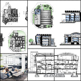 ★【Office, Commercial building, mixed business building CAD Design Project V.1】@Autocad Blocks,Drawings,CAD Details,Elevation