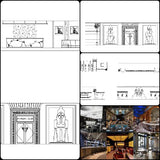 ★【Pub,Bar,Restaurant CAD Design Drawings V.2】@Pub,Bar,Restaurant,Store design-Autocad Blocks,Drawings,CAD Details,Elevation - CAD Design | Download CAD Drawings | AutoCAD Blocks | AutoCAD Symbols | CAD Drawings | Architecture Details│Landscape Details | See more about AutoCAD, Cad Drawing and Architecture Details