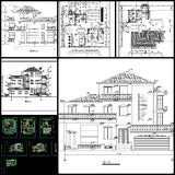 ★【Villa CAD Design,Details Project V.12】Chateau,Manor,Mansion,Villa@Autocad Blocks,Drawings,CAD Details,Elevation - CAD Design | Download CAD Drawings | AutoCAD Blocks | AutoCAD Symbols | CAD Drawings | Architecture Details│Landscape Details | See more about AutoCAD, Cad Drawing and Architecture Details