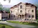 ★【Villa CAD Design,Details Project V.6-Italian Florentine Style】Chateau,Manor,Mansion,Villa@Autocad Blocks,Drawings,CAD Details,Elevation