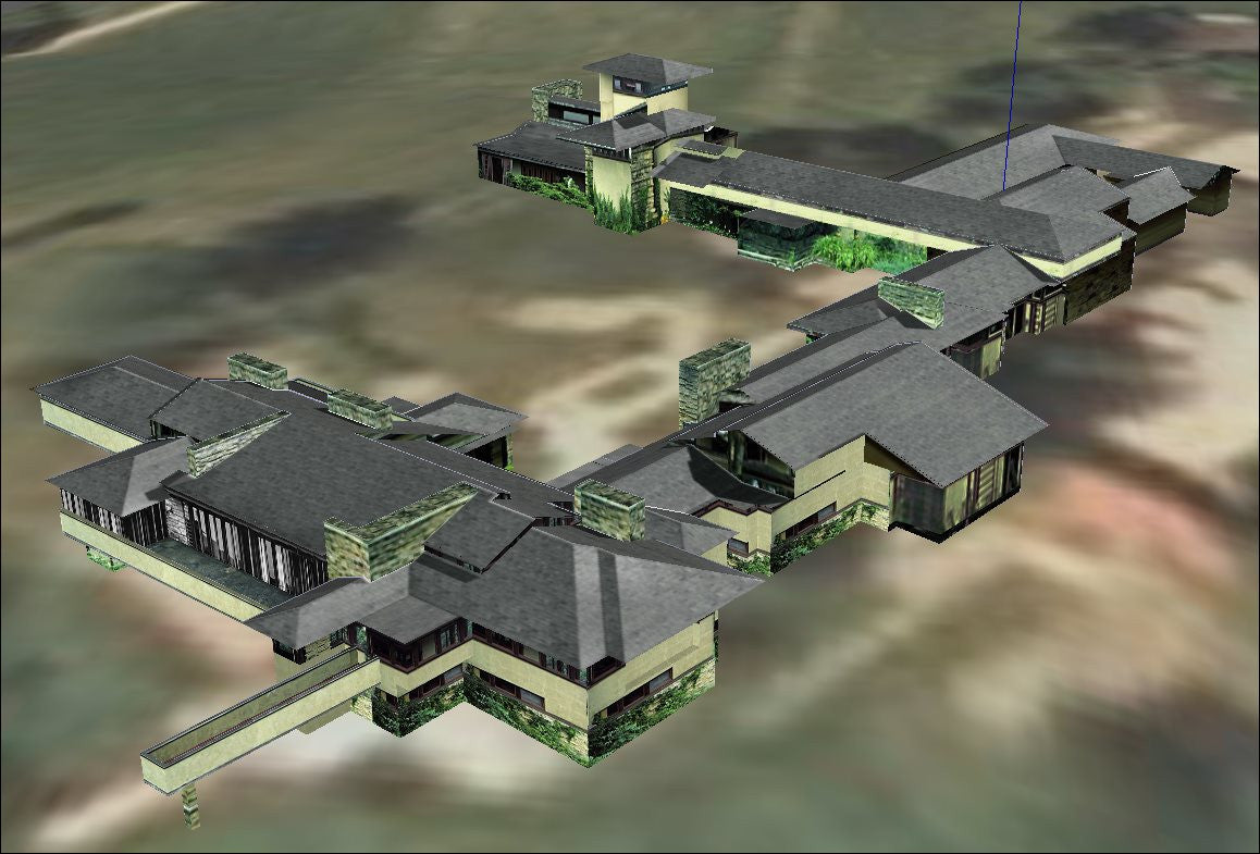 16 Projects of Frank Lloyd Wright Architecture Sketchup 3D Models(Recommanded!!)