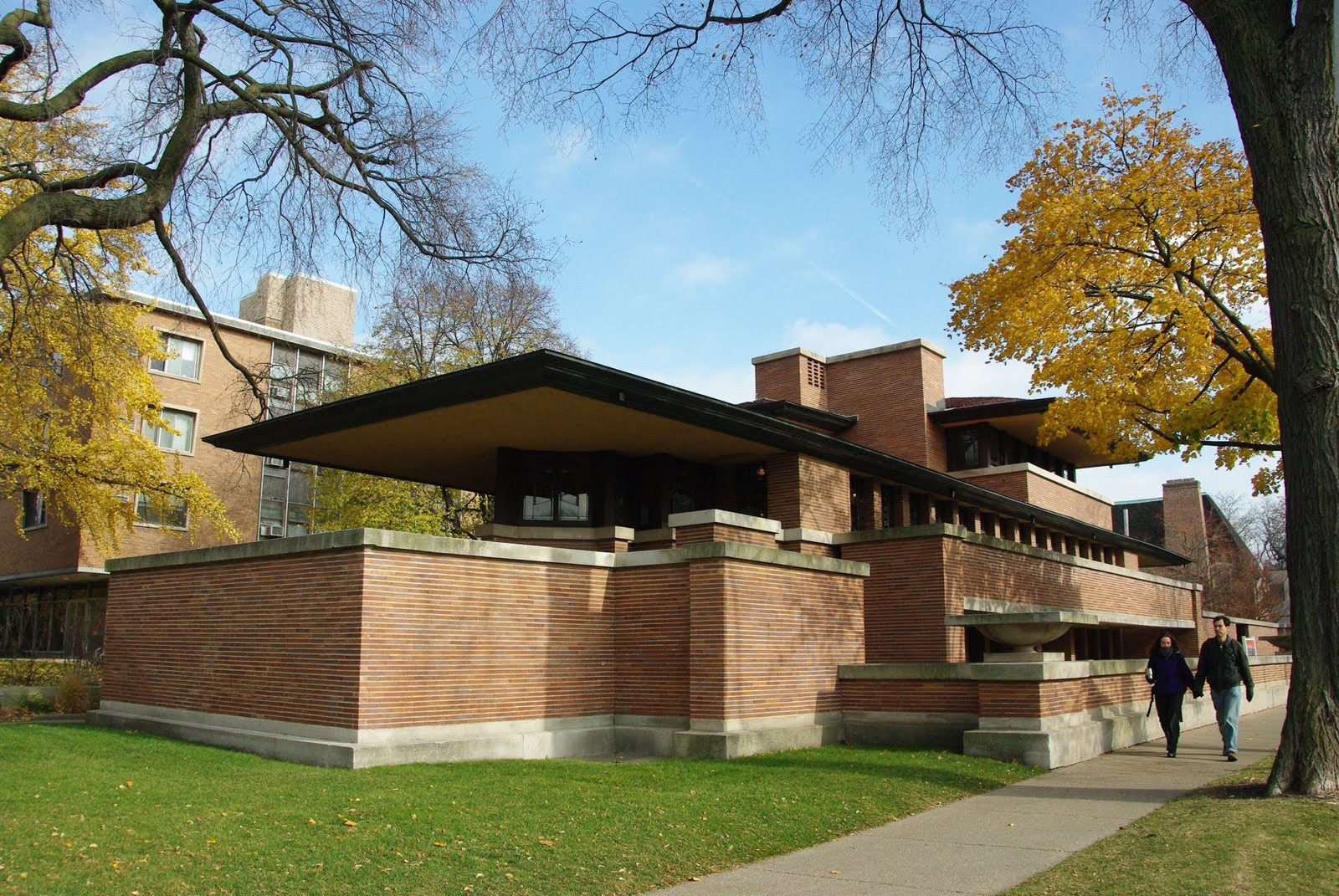 Frank lloyd wright robie house cad design free cad for Frank lloyd wright house design