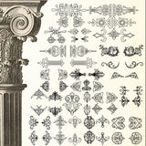 Ornamental Parts of Buildings 5 - CAD Design | Download CAD Drawings | AutoCAD Blocks | AutoCAD Symbols | CAD Drawings | Architecture Details│Landscape Details | See more about AutoCAD, Cad Drawing and Architecture Details