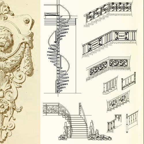 Ornamental Stair Parts – CAD Design