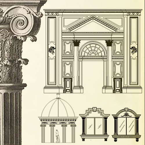 Ornamental Parts Of Buildings 1 CAD Design Free