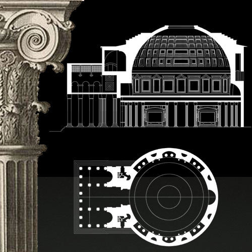 Free Decorative Elements V.21 (Rome Pantheon) - CAD Design | Download CAD Drawings | AutoCAD Blocks | AutoCAD Symbols | CAD Drawings | Architecture Details│Landscape Details | See more about AutoCAD, Cad Drawing and Architecture Details