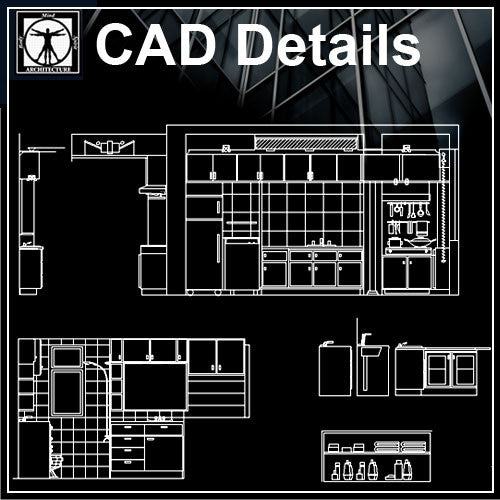Kitchen elevation - CAD Design | Download CAD Drawings | AutoCAD Blocks | AutoCAD Symbols | CAD Drawings | Architecture Details│Landscape Details | See more about AutoCAD, Cad Drawing and Architecture Details