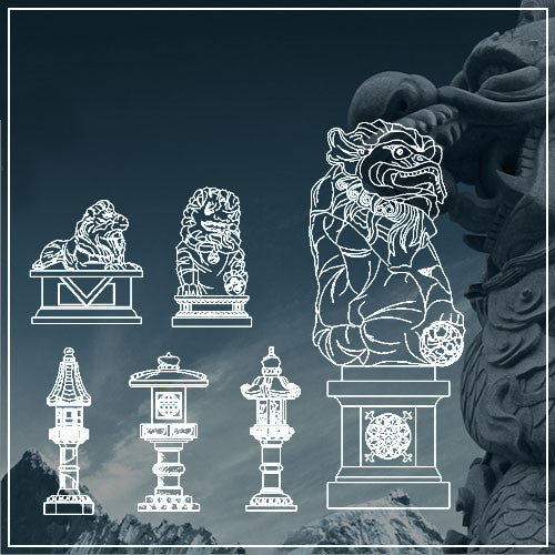 Free  Chinese Statue and Stone lamp - CAD Design | Download CAD Drawings | AutoCAD Blocks | AutoCAD Symbols | CAD Drawings | Architecture Details│Landscape Details | See more about AutoCAD, Cad Drawing and Architecture Details