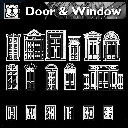 Best door design ideas - CAD Design | Download CAD Drawings | AutoCAD Blocks | AutoCAD Symbols | CAD Drawings | Architecture Details│Landscape Details | See more about AutoCAD, Cad Drawing and Architecture Details