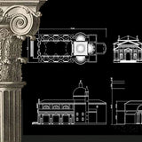 Free Decorative Elements V.23 - CAD Design | Download CAD Drawings | AutoCAD Blocks | AutoCAD Symbols | CAD Drawings | Architecture Details│Landscape Details | See more about AutoCAD, Cad Drawing and Architecture Details