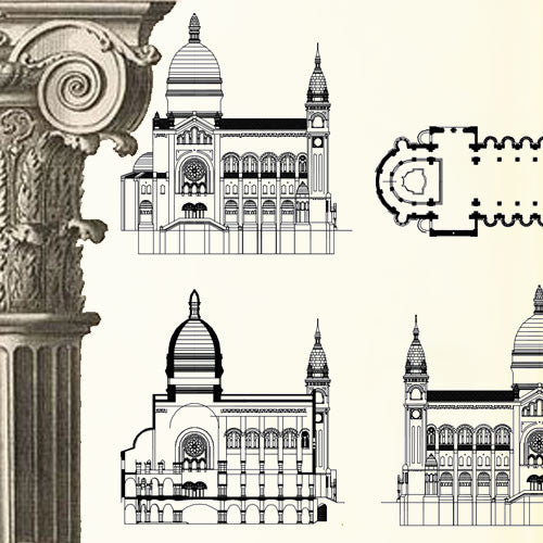 Ornamental Parts of Buildings 11 - CAD Design | Download CAD Drawings | AutoCAD Blocks | AutoCAD Symbols | CAD Drawings | Architecture Details│Landscape Details | See more about AutoCAD, Cad Drawing and Architecture Details