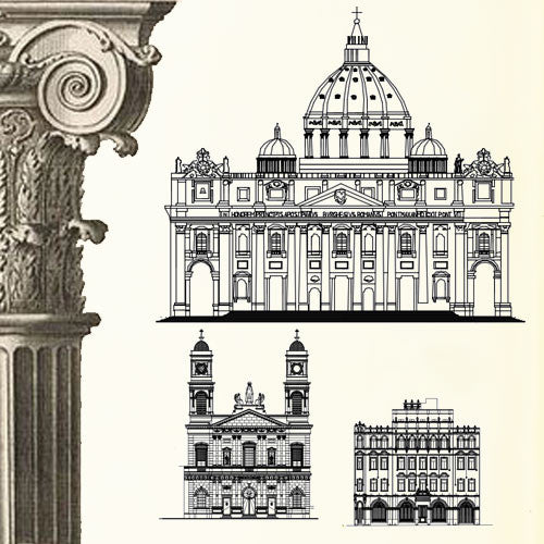 Ornamental Parts of Buildings 9 - CAD Design | Download CAD Drawings | AutoCAD Blocks | AutoCAD Symbols | CAD Drawings | Architecture Details│Landscape Details | See more about AutoCAD, Cad Drawing and Architecture Details