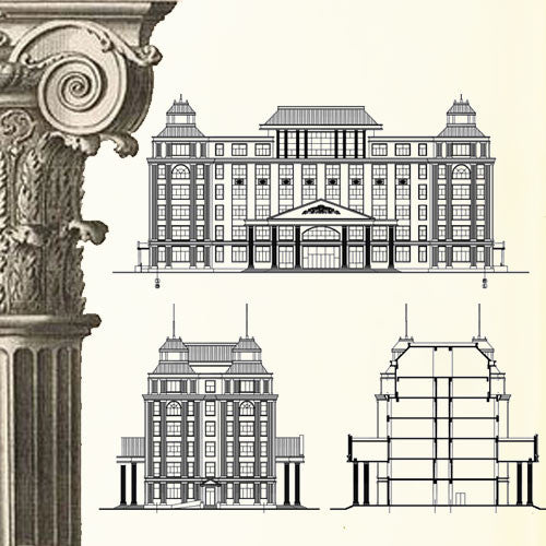 Ornamental Parts of Buildings 10 - CAD Design | Download CAD Drawings | AutoCAD Blocks | AutoCAD Symbols | CAD Drawings | Architecture Details│Landscape Details | See more about AutoCAD, Cad Drawing and Architecture Details