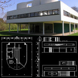 Villa Savoye - Le corbusier-Autocad Drawings download