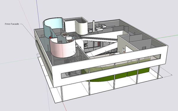 24 Types of Le Corbusier Architecture Sketchup 3D Models(Recommanded ...