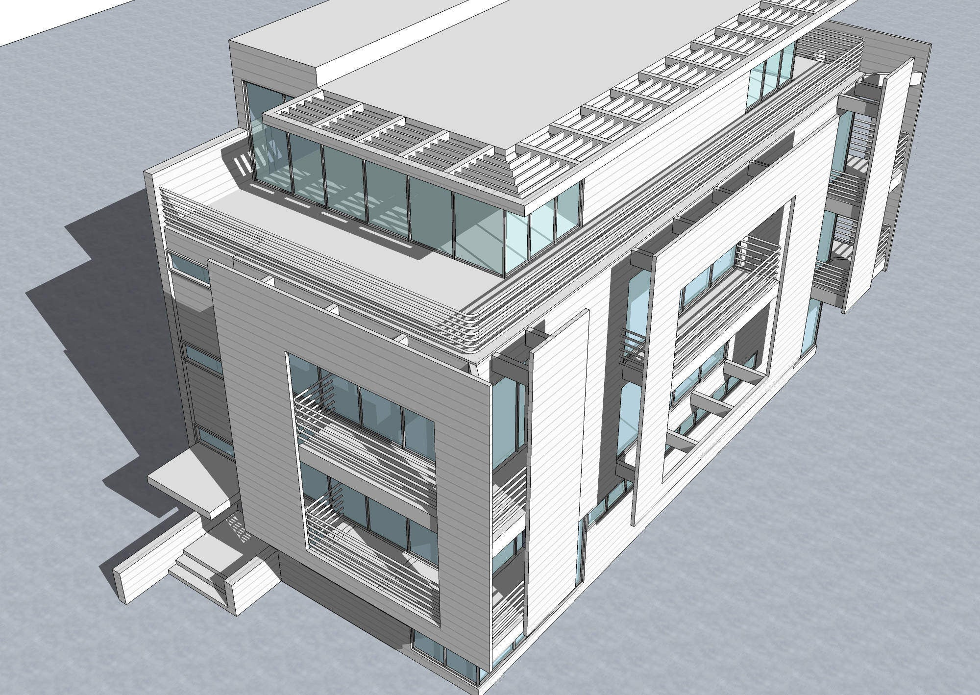 Sketchup 3d architecture models rickmers house richard for House cad drawings