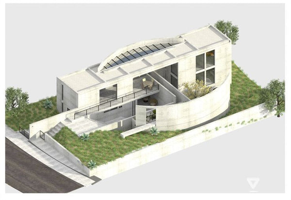 Tadao ando iwasa house cad design free cad blocks for Cad house