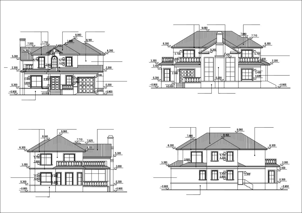 Villa Design CAD Drawings V5