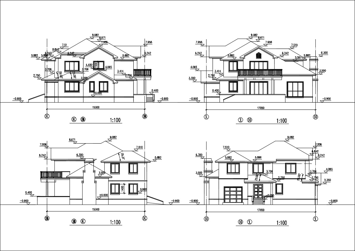Villa Design CAD Drawings V10
