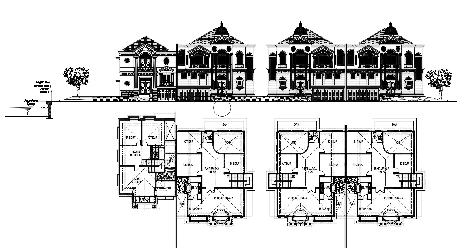 Villas architecture plan and design