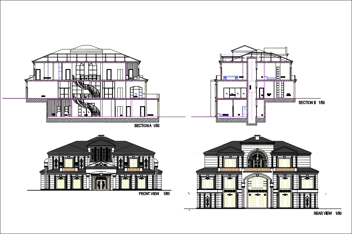 Modern Bungalows Design Plan – CAD Design   Free CAD Blocks,Drawings on house designs modern, house designs bedroom, house front door colors, house designs front entry, house designs basement, house beautiful front yard landscaping, house designs floor plan, house designs office, house designs interior, house design philippines, house columns designs, house plans with frontal view, house elevation design, house designs asian, house designs exterior, luxury living room with city view, house designs green, house beautiful home, house plans for homes with views, house made of windows,