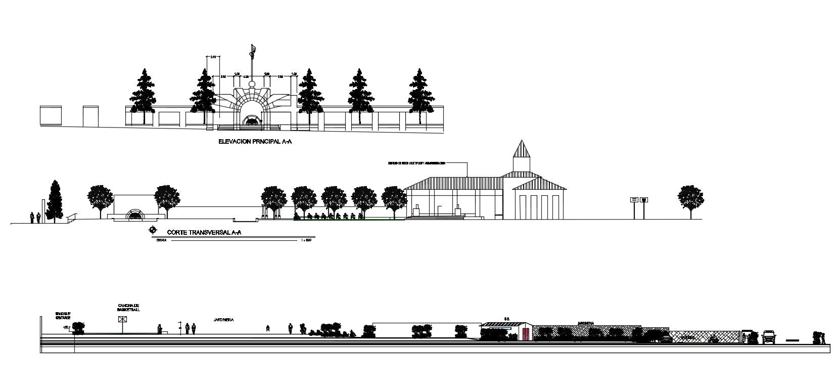 Park Lay-out plan drawing