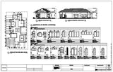 Villa architecture plan and constructions detail